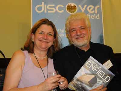 Jackie Sadek and councillor Del Goddard at Discover Enfield