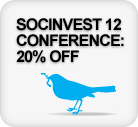 SocInvest 12 Early Bird discount